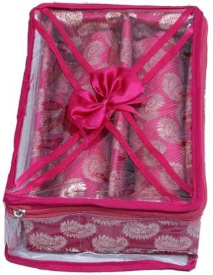 Ermani Export Bangle Box 2 Rod In Pink Brocade Bangle Box Vanity Box