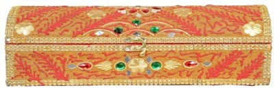 Falak Handicrafts Single Rod Red Bangle Box Vanity Box