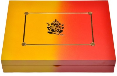 Cosmosgalaxy Gift Two Colour Ganesha Makeup and Jewellery Vanity Box