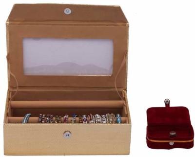 Kuber Industries Bangle Two Roll & Ring Box Jewellery Vanity Box