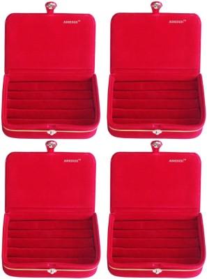 Abhinidi Set of 4 velvet ring storage travelling folder case Box Vanity Box