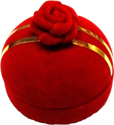 Divine Jewell Ring Box - Red Jewellery Vanity Box(Red)