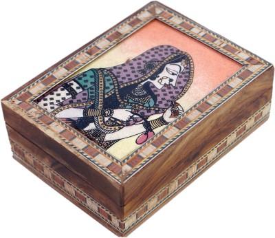 R S Jewels Gemstone Bani Thani Rajasthani Painting 4 x 3 Jewellery Vanity Box