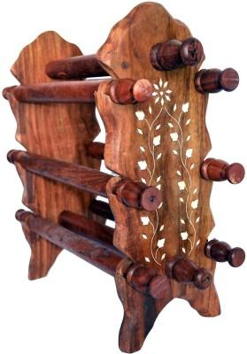Woodino Brownish Medium Bangle Stand Vanity Box