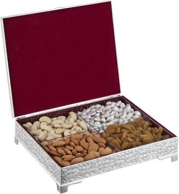 Treta Rectangular 4 In 1 Silver Box Jewellery Vanity Box