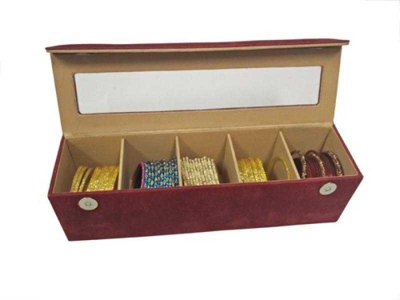 Essart Box 03 Makeup and Jewellery Vanity Box(Maroon)