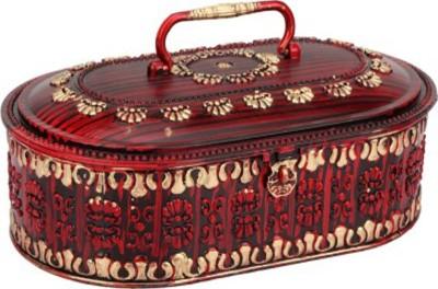 Tuelip Oval Shape Antique MakeUp Vanity Box