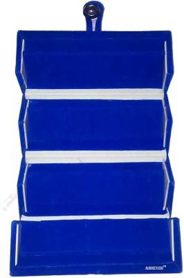 Abhinidi Set of 1 Maroon velvet coated Earring folder case Box Vanity Box(Blue)
