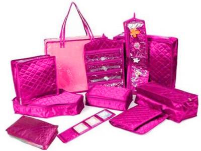 Atorakushon Combo Of Jewellery Organiser Pouches Make Up Kit Wedding Collection Gift Storage Case Box Vanity Box