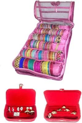Addyz Six Rod Indian Bangle Bracelet Watch Bag Jewelry Vanity Box