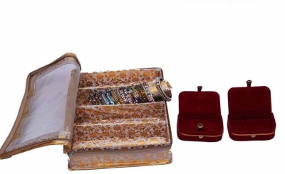 Kuber Industries Bangle Four Roll & Ring & Earing Box Jewellery Vanity Box