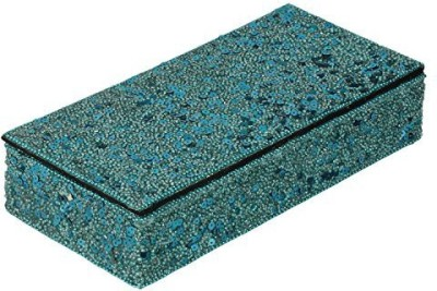 The Decor Mart Decor Mart - Jewellery Box - Beaded - Turquoise - 5 X 10 inch Makeup Vanity Box