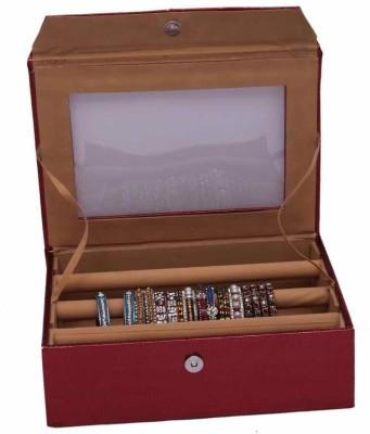 Kuber Industries Bangle Three Roll Jewellery Vanity Box