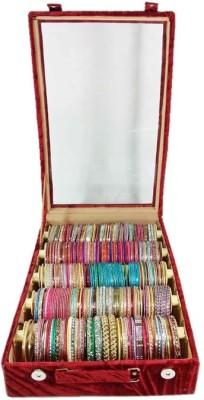Atorakushon Jewelley Bangles Box Plain 5 Rods Jewelry Storage Vanity Box