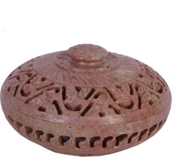 Avinash Handicrafts Stone Round Jwellery Box 4