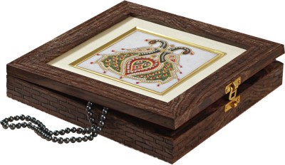 Aapno Rajasthan Antique Finish Marble Jewellery Vanity Box