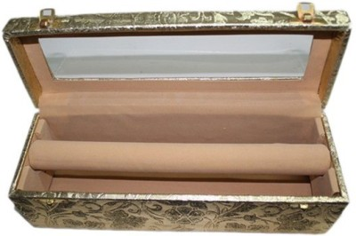 Ermani Export Golden Polyester Single Rod Bangle Box Makeup Vanity Box