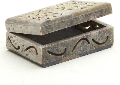 Aapno Rajasthan Leaf Design Rectangular Box Multiutility Vanity Box
