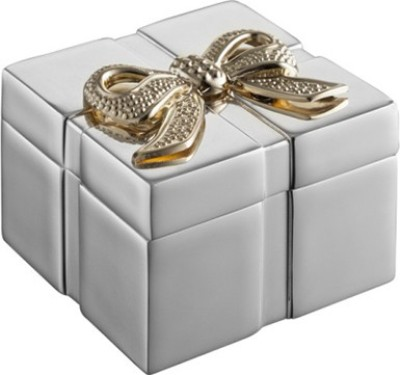 Treta Golden Ribbon Box Jewellery Vanity Box