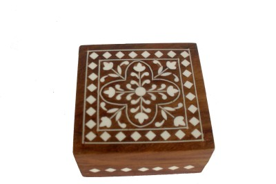 Sheela's Arts&Crafts SH02445 Makeup & Jewellery Vanity Box(Brown)
