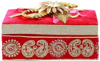 paras kraft Redish Square Makeup And Jewellery Vanity Box