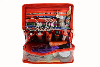 K&P Designer Semi-transparent Makeup Box Makeup and Jewellery Vanity Box