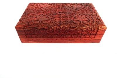 Woodpedlar Wooden Fancy Design Sheesam Wood Brass Work Home Decor Wedding Multiuse Storage Jewellery Makeup, Jewellery Vanity Box