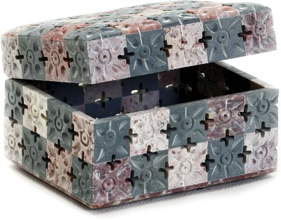Aapno Rajasthan Beautifully Crafted Stoneware Box Multiutility Vanity Box