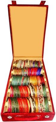 Atorakushon 5 Roll Rod Bangles Jewelry Storage Vanity Box