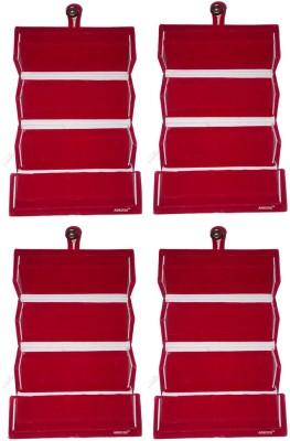 Abhinidi Set of 4 Maroon velvet coated Earring folder case Box Vanity Box(Maroon)