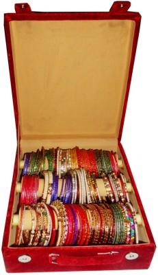Atorakushon 3 Roll Rod Bangles Jewelry Storage Vanity Box