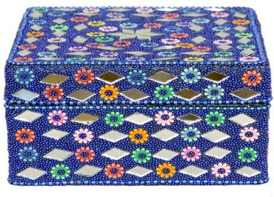 Falak Handicrafts Square Blue Jewellery Box Vanity Box