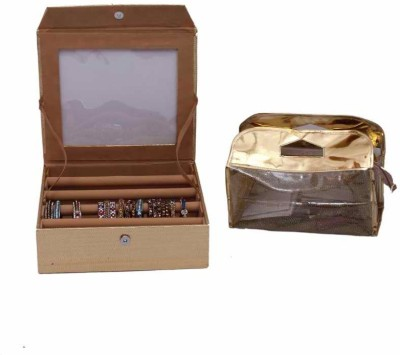 Kuber Industries Four Roll Bangle & Vanity Jewellery Vanity Box