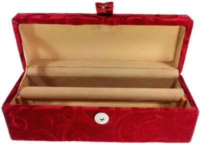 Addyz 0ne roll Indian Velvet Coated Wooden Bangle Bracelet Watch box ornaments Vanity Box