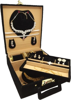Lnc 2 nakles set and 1 extra tray holder Jewellary Storage Vanity Box