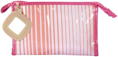 PRETTY KRAFTS Travel Vanity Kit Stripes - Peach Makeup Vanity Box