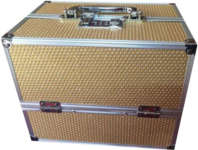 Platinum Gold Stone Makeup, Jewellery Vanity Box