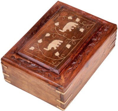 Ratash.com HC_4963_64_12 Jewellery Vanity Box(Brown)