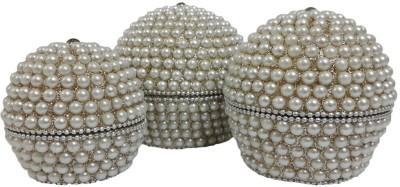 Dineshalini Pearl White Multipurpose Box Vanity Box