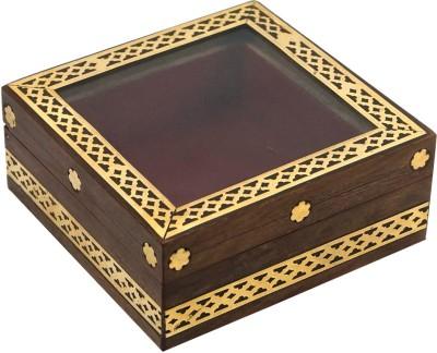 R S Jewels Wooden Handicraft New Fashion Style Jewellery Vanity Box