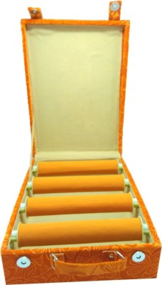 Lnc 4 Rool Orange Lahar Bangle Box Bangle Storage Vanity Box