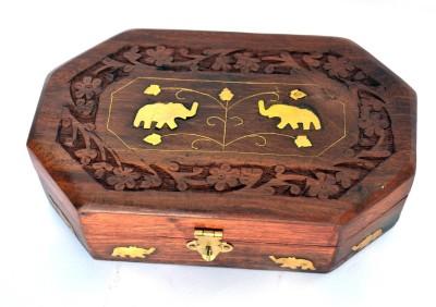 Woodino Brown Makeup and Jewellery Vanity Box