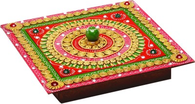 Aapno Rajasthan Hand Crafted Multipurpose Box With Clay And Wood Jewellery Vanity Box