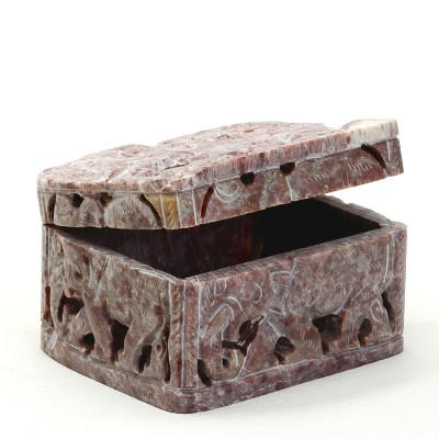 Aapno Rajasthan Carved Elephant Box Multiutility Vanity Box