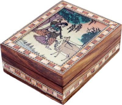 R S Jewels Gemstone Meera Painting Wooden Handicraft 4 x 3 Jewellery Vanity Box