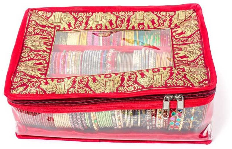KRG Enterprises 3 Rods Bangle Box Vanity Box(Multi-Colour)