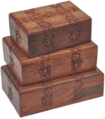 Onlineshoppee wooden handmade vanity box Makeup and Jewellery Vanity Box