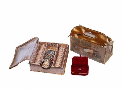 Kuber Industries Bangle Three Roll & Vanity & Ring Box Jewellery Vanity Box