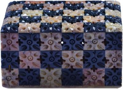 Avinash Handicrafts Soap Stone Vanity Box Chess Style 3x4