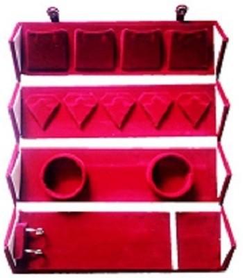 SRIDA RED VELVET EARRING BOX 4 in 1 ORGANISER Vanity Box